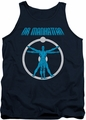 Watchmen tank top Anatomy mens navy