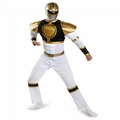 White Ranger adult classic muscle costume Power Rangers