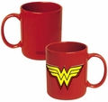 Wonder Woman Embossed Logo 20 oz. Ceramic Mug