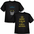 Youth Batman Character black t-shirts