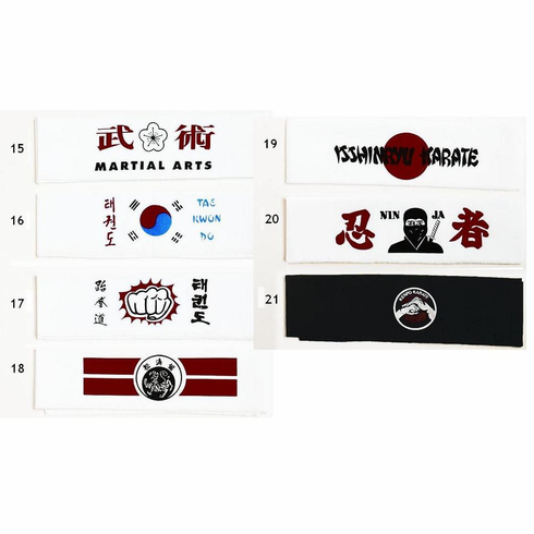 Martial Arts Headbands Group 3
