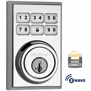 99100-013 - Kwikset Z-Wave SmartCode Wireless Contemporary Deadbolt (Polished Chrome)