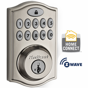 99140-002 - Kwikset Z-Wave Wireless Deadbolt (Satin Nickel)