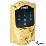 BE468CAM605 - Schlage Z-Wave Camelot Deadbolt (Bright Brass)