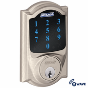 BE468CAM619 - Schlage Z-Wave Camelot Deadbolt (Satin Nickel)