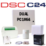 DSC PC1864 PowerSeries Dual Path Hybrid Security System
