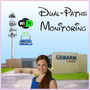 Dual-Paths Interactive Alarm Monitoring