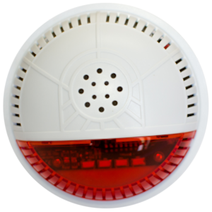 Fortrezz Z-Wave Wireless Alarm Siren & Strobe w/Red Lense (SSA2)