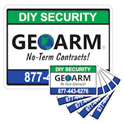 GEOARM� Home Security Sign and 5-Pack Stickers Combo