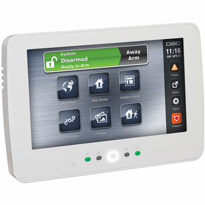 HS2TCHP - DSC PowerG TouchScreen White Alarm Keypad w/Prox Support (for PowerSeries Neo Control Panel)