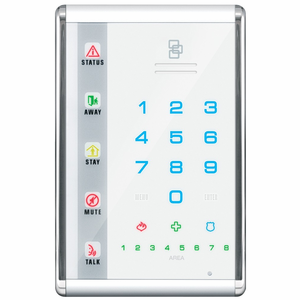 NX-1811E - GE Interlogix NetworX Advanced Touch Vertical LED White Alarm Keypad