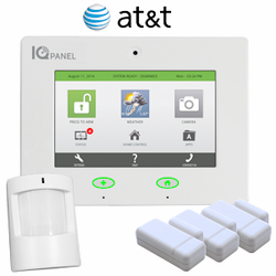 Qolsys IQ Panel Wireless Cellular Security System for AT&T Towers (3-1-1)