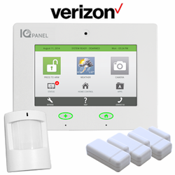 Qolsys IQ Panel Wireless Cellular Security System for Verizon Towers (3-1-1)