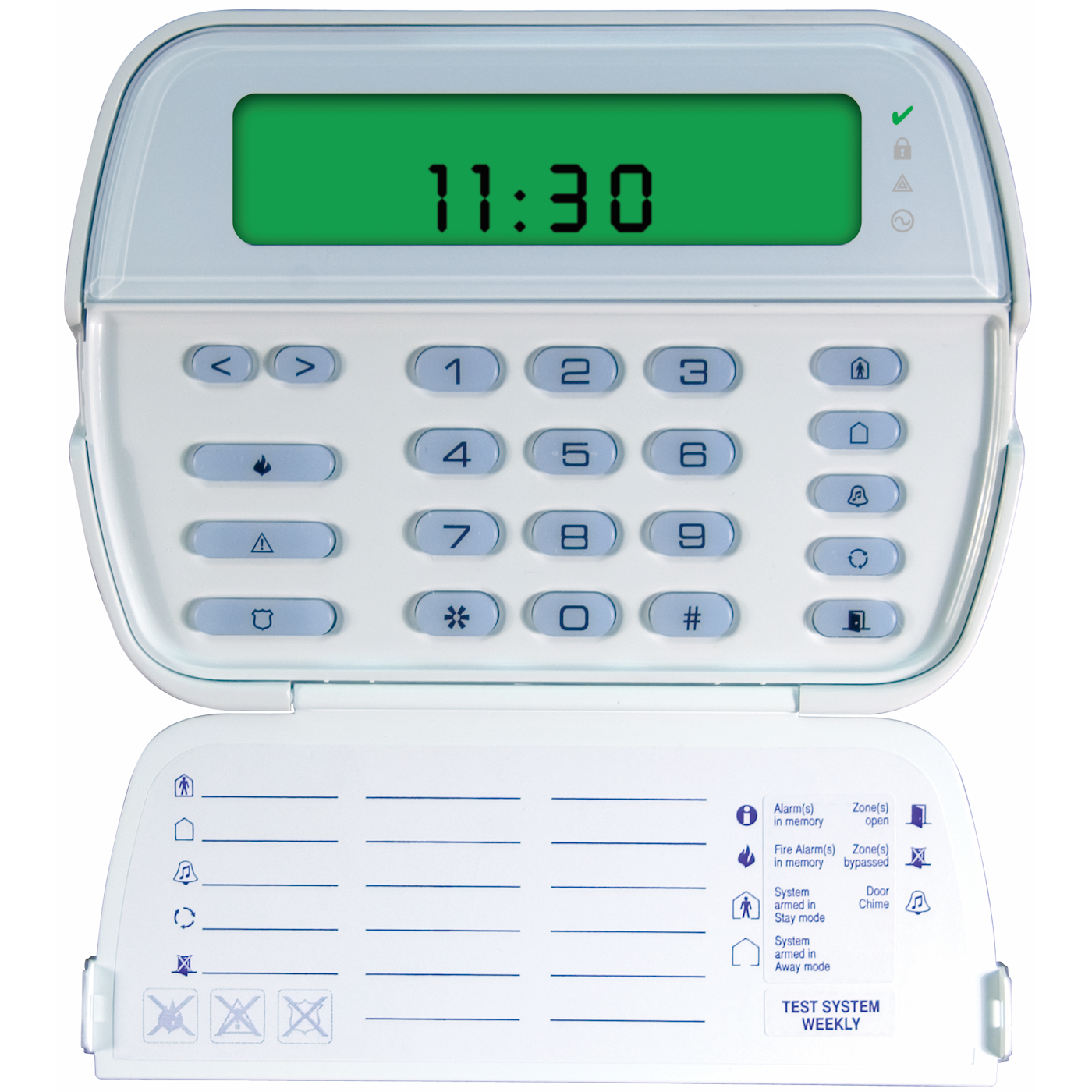 RFK5501 - DSC LCD Picture ICON Hardwired Alarm Keypad (w/64-Zones and  32-Zone Wireless Receiver)