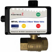 "WV01LFUS100 - FortrezZ Z-Wave Automated Water Shut Off Valve (1"" Brass)"