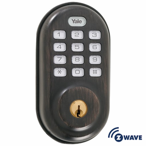YRD210ZW0BP - Yale Z-Wave Push Button Keypad Deadbolt (Bronze)