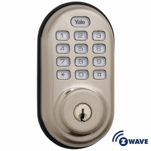 YRD210ZW619 - Yale Z-Wave Push Button Keypad Deadbolt (Satin Nickel)