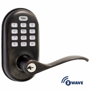YRL210ZW0BP - Yale Z-Wave Push Button Keypad Lever Lock (Bronze)