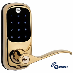 YRL220ZW605 - Yale Z-Wave Touchscreen Lever Lock (Brass Color)