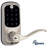 YRL220ZW619 - Yale Z-Wave Touchscreen Lever Lock (Satin Nickel Color)