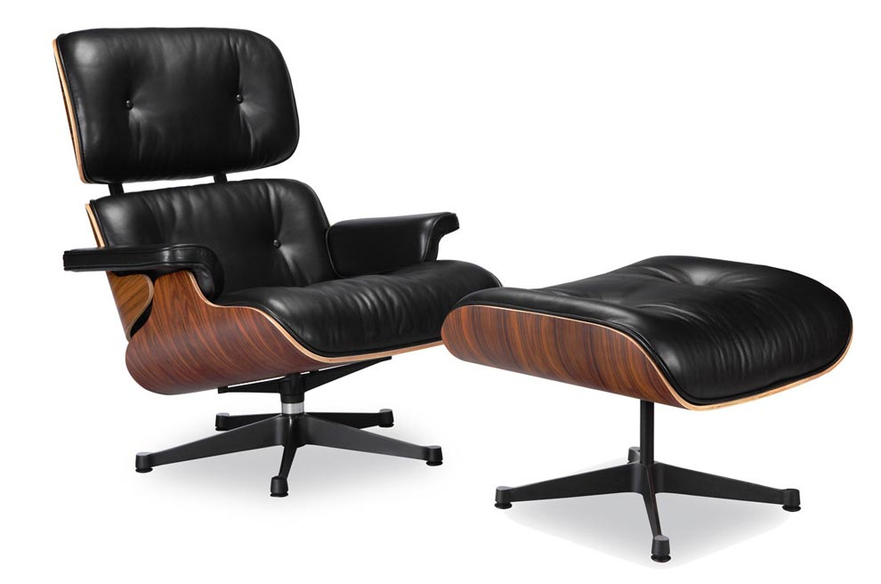 Eames lounge chair vitra black manhattan home design for Lounge chair kopie