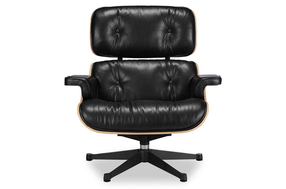 Eames Chair Leather eames lounge chair replica vitra black | manhattan home design