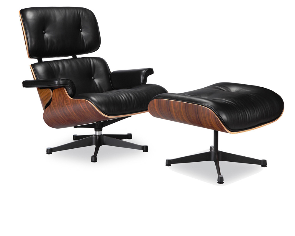 Eames lounge chair replica vitra black manhattan home design for Eames burostuhl replica