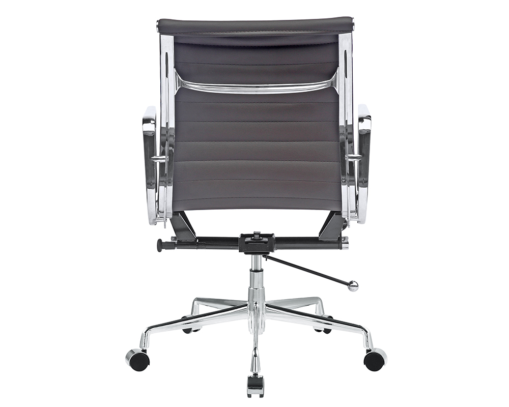 mid aluminum office chair white italian. eames office chair replica ribbed management style 12 mid aluminum white italian