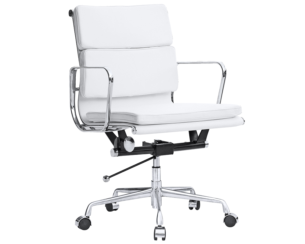 eames soft pad management chair replica  eames office chair - white ()