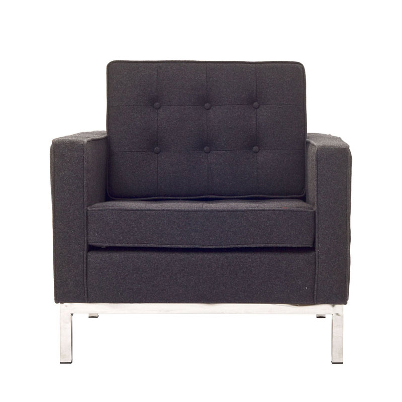 Florence Loft Arm Chair In Wool Style 1 ...