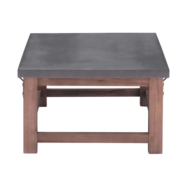 Greenpoint Coffee Table Gray Distressed Fir Style