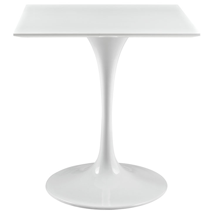 Tulip Table Replica Square Wood Top Dining Table WHITE - Tulip table wood top
