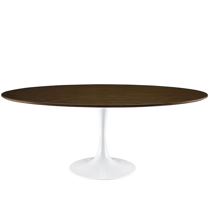 Tulip Table Replica Round Wood Top Dining Table - Tulip table wood top