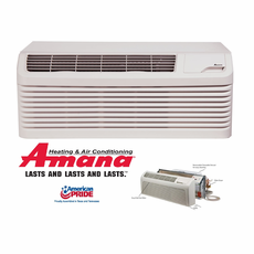 Amana PTC123G25AXXX PTAC Air Conditioner with Electric Heat, 11,700 BTU, 230/208 Volt, EER Rating 10.4, 15 Amp, DigiSmart Technology, Wall Sleeves and Grilles Needed for New Installations Sold Separately