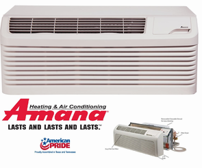 Amana PTH123G35QXXX PTAC Air Conditioner with Heat Pump, 12,000 BTU, 230/208 Volt, EER Rating 10.7, 20 Amp, Quiet Series, Special Order (4-6 Weeks), Wall Sleeves and Grilles Needed for New Installations Sold Separately