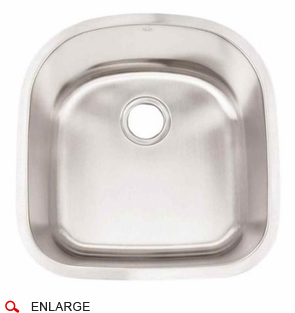 Artisan AR2120D9 D 16 Gauge Stainless Steel Sink, Deluxe Pack, Single Bowl