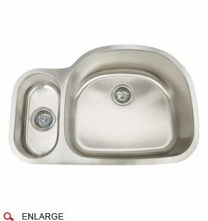Artisan AR3121D95R D 16 Gauge Stainless Steel Sink, Deluxe Pack, Double Bowl