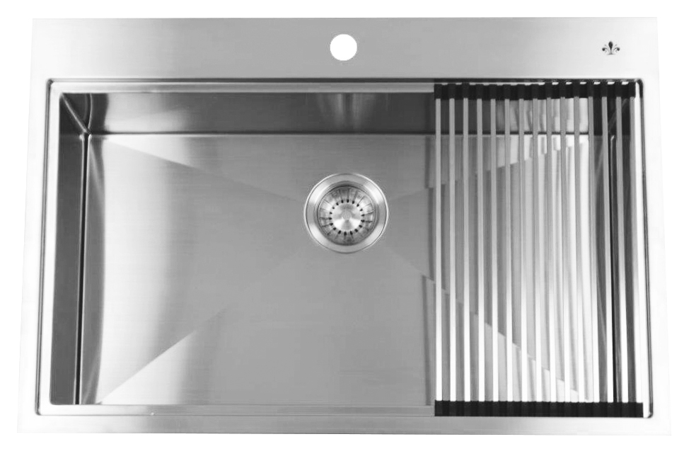 Artisan CPDR3301 D10 Chef Pro Series Dual Mount Single Bowl Stainless Steel  Sink