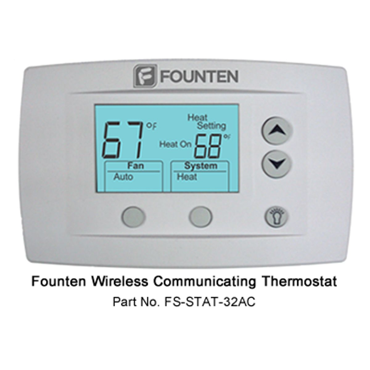 Founten FS-STAT-32AC Hard Wired Programmable Thermostat | Cool ...