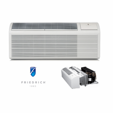 Friedrich PDH12K3SG PTAC Air Conditioner with Heat Pump, 11,800 BTU, 230/208 Volt, EER Rating of 11.6, DiamondBlue Protection, Wall Sleeves and Grilles Needed for New Installations Sold Separately