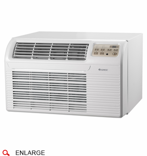 GREE 26TTW09AC115V1A Through the Wall Air Conditioner, 9,300 BTU, 115 Volt, EER Rating 9.8, Electronic Controls with Remote, Wall Sleeves Needed for New Installations Sold Separately