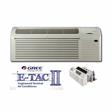 GREE ETAC2-09HP230VB-A PTAC Air Conditioner with Heat Pump and Backup Electric Heat, 9,200 BTU, 230/208 Voltage, EER Rating of 12.1, Correct Amperage Cord, Wall Sleeve and Exterior Grille are Needed for New Installations, Sold Separately