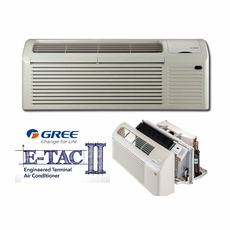 GREE ETAC2-09HP230VB-CP Seacoast Protected PTAC Air Conditioner with Heat Pump and Backup Electric Heat, 9,200 BTU, 230/208 Voltage, EER Rating of 12.1, Correct Amperage Cord, Wall Sleeve and Exterior Grille are Needed for New Installations, Sold Separately