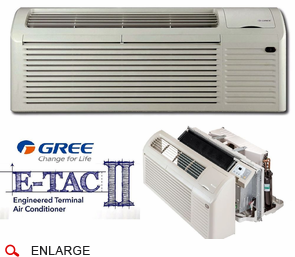 GREE ETAC2-12HP230VA-CP Seacoast Protected PTAC Air Conditioner with Heat Pump and Backup Electric Heat, 11,600 BTU, 230/208 Voltage, EER Rating of 11.6, Correct Amperage Cord, Wall Sleeve and Exterior Grille are Needed for New Installations, Sold Separately