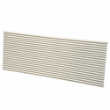 First America GRILLE-ALU-WHITE Architectural Aluminum PTAC Grille, White Color