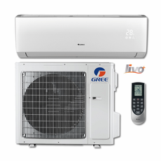GREE LIVS24HP230V1B LIVO+ Single Zone Ductless Mini Split System with Inverter Heat Pump, 22,000 BTU, 230/208 Volt, 16.0 SEER, WiFi Capable, Includes Indoor Wall Unit with Remote and Outdoor Condenser