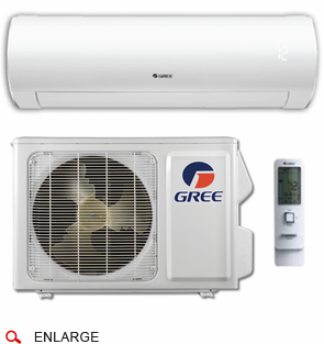 GREE Sapphire SAP18HP230V1A Ductless Mini Split w/ Inverter Heat Pump, 18,000 BTU, Energy Star Rated, SEER 24.5, 230/208 Volt, -22 Degrees Capability, Single Zone Includes Indoor Wall Unit and Outdoor Condenser, Line Sets Sold Separately