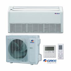 GREE UMAT30HP230V1AFS Floor-Ceiling Indoor Unit, 30,000 BTU Outdoor Condenser, 230/208 Volt, R410A Refrigerant, Includes IR Remote and Tethered Controller, Power Failure Recovery and 4-Way Air Discharge