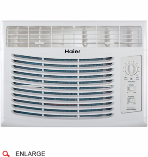 haier hwf05xcl l 5 000 btu 115v window mounted air conditioner with mechanical controls 1 haier hwf05xcl l window air conditioner 5,000 btu, 115v  at webbmarketing.co