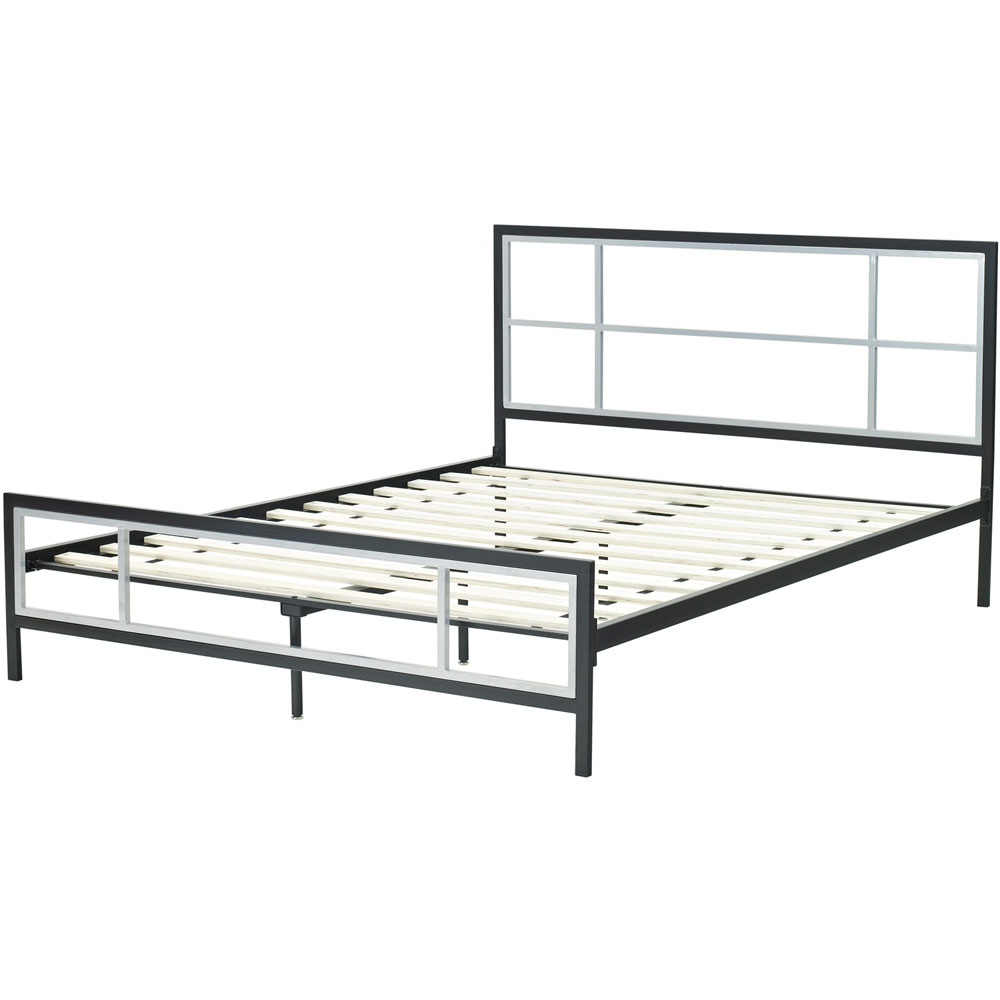 Hanover HBEDLINC-QN Lincoln Square Queen Metal Bed Frame, Cool ...